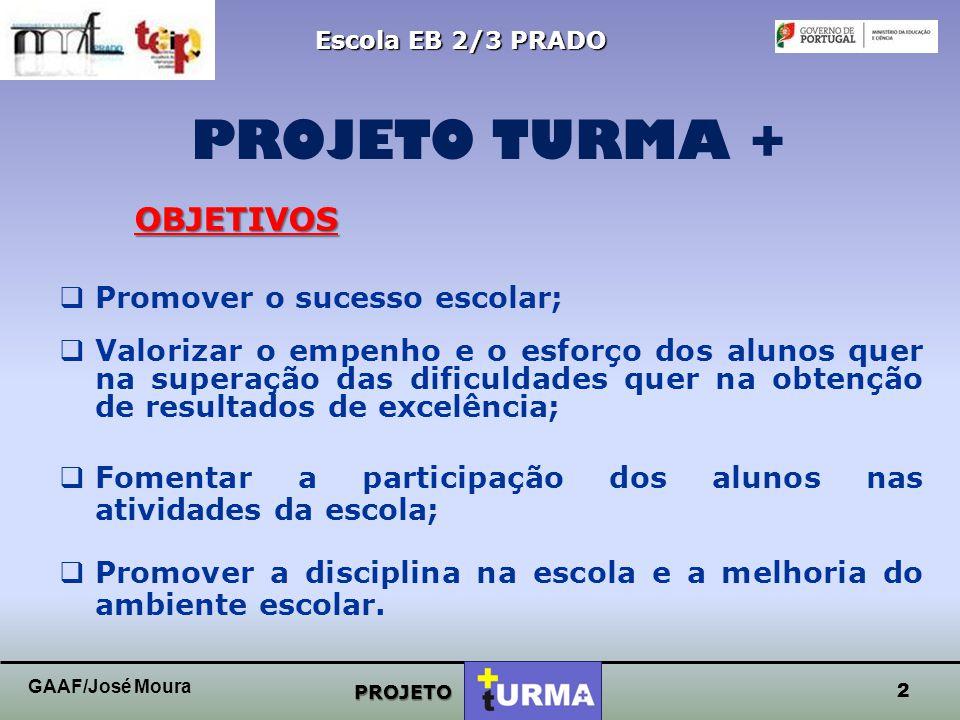 PROJETO TURMA + OBJETIVOS Promover o sucesso escolar;