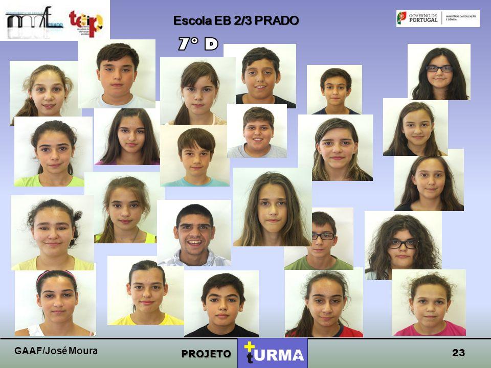 Escola EB 2/3 PRADO 7º D GAAF/José Moura PROJETO 23
