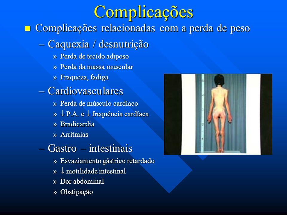 Complicações Complicações relacionadas com a perda de peso