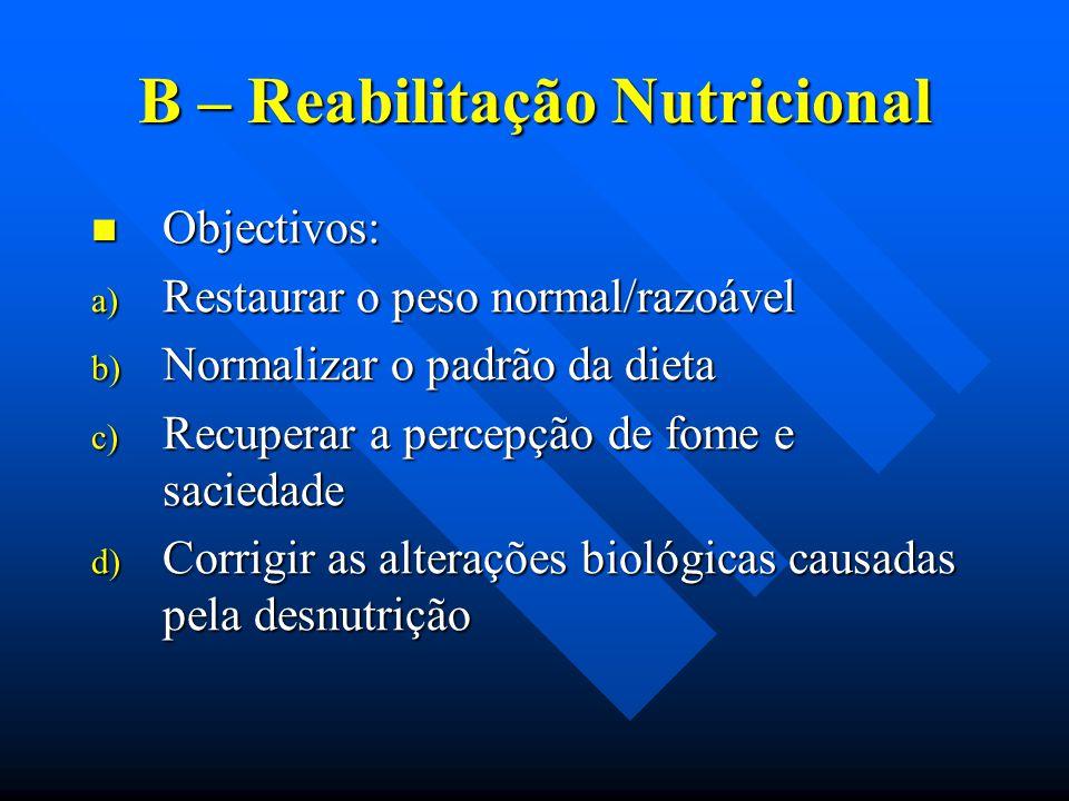 B – Reabilitação Nutricional