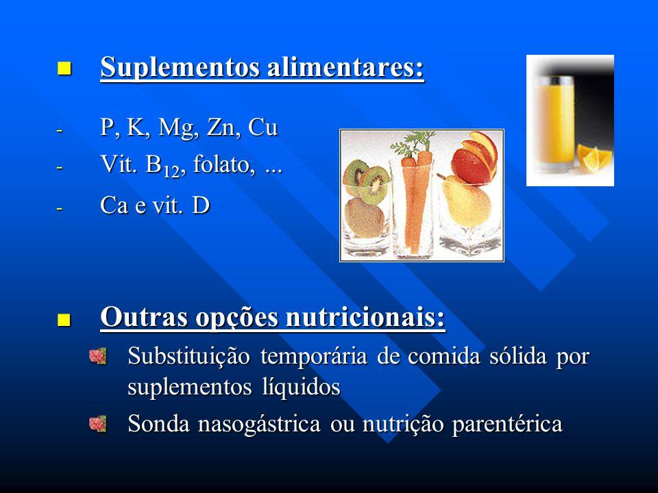 Suplementos alimentares: