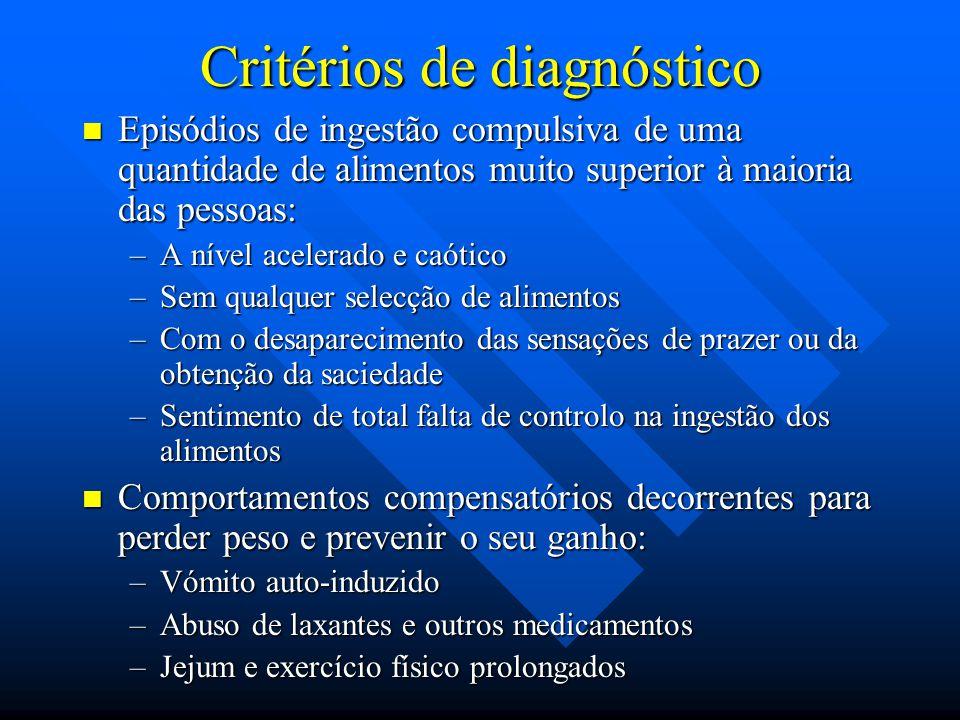 Critérios de diagnóstico
