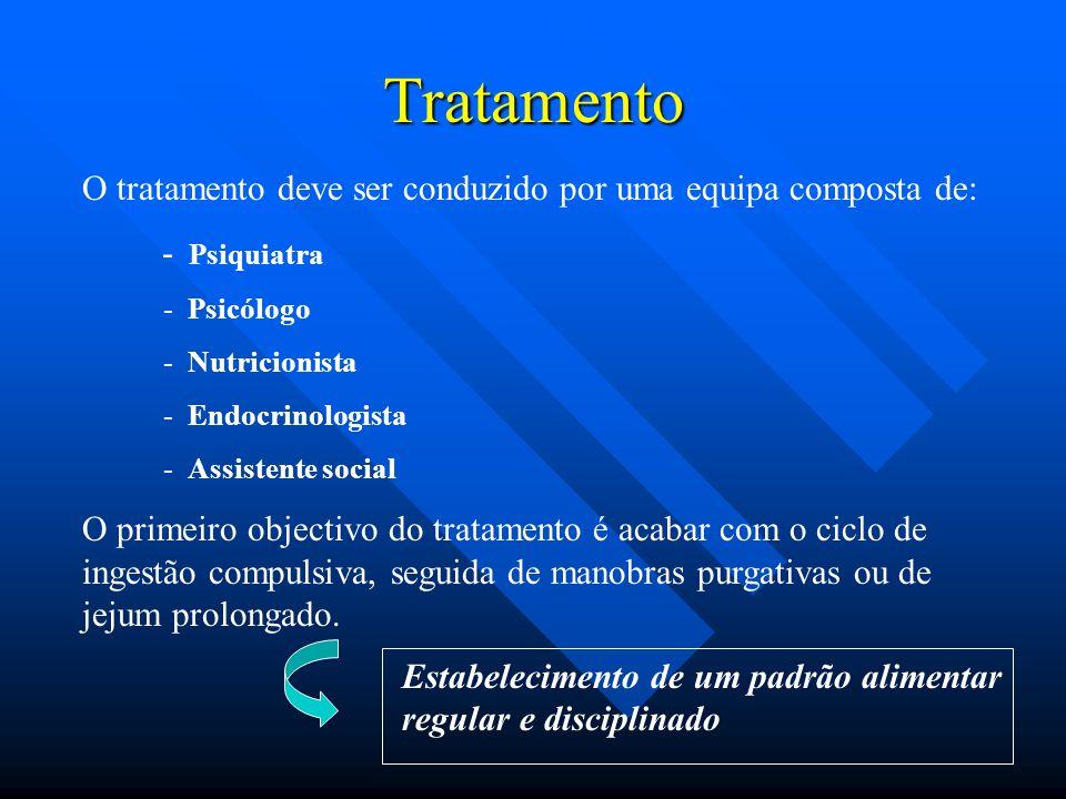 Tratamento O tratamento deve ser conduzido por uma equipa composta de: