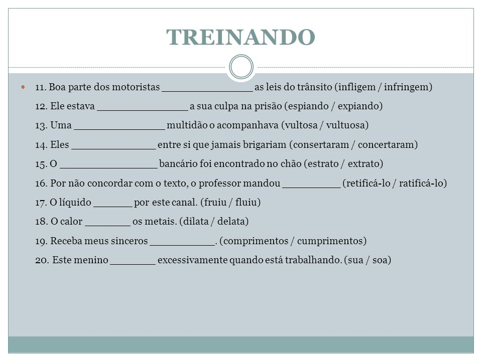 TREINANDO