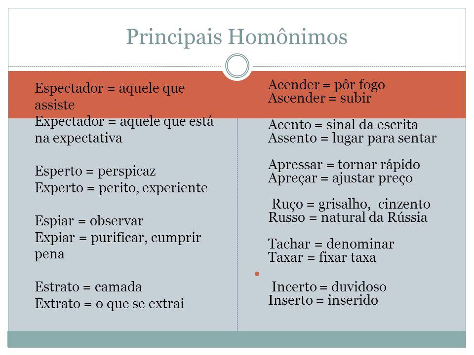 Principais Homônimos