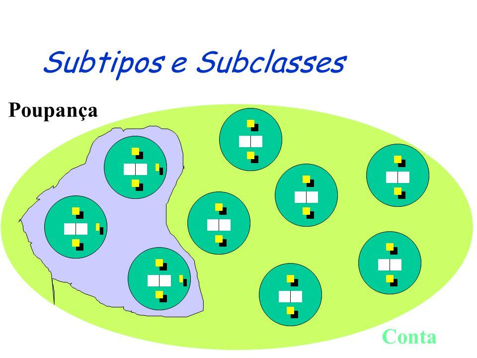 Subtipos e Subclasses Poupança Conta