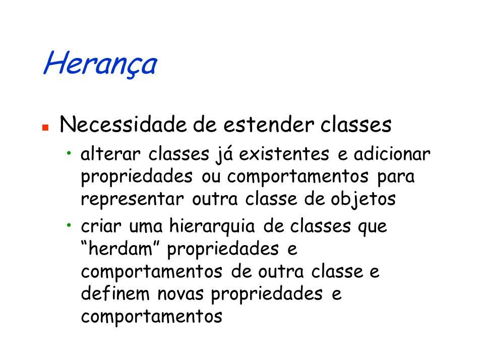 Herança Necessidade de estender classes