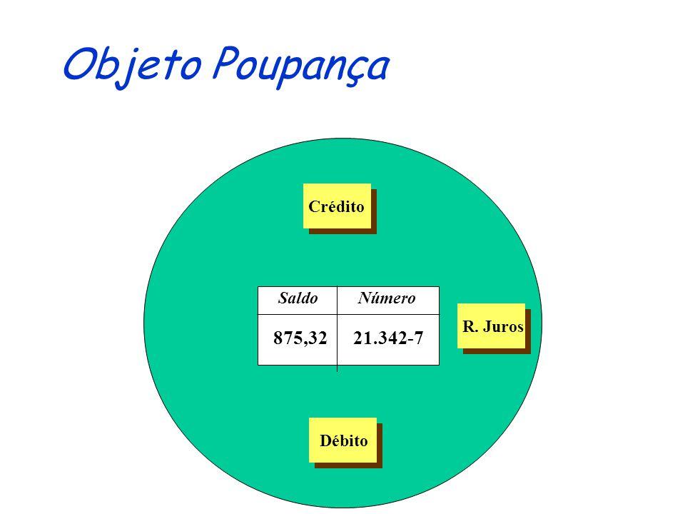 Objeto Poupança Crédito Saldo Número R. Juros 875,32 21.342-7 Débito