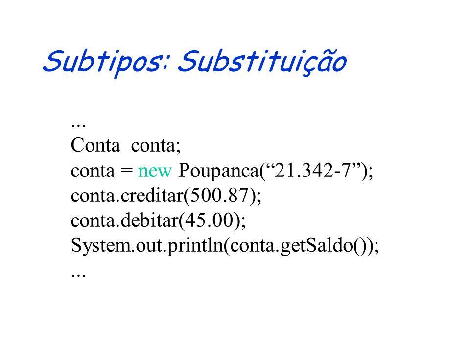 Subtipos: Substituição