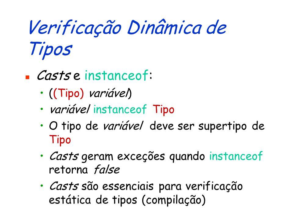 Verificação Dinâmica de Tipos