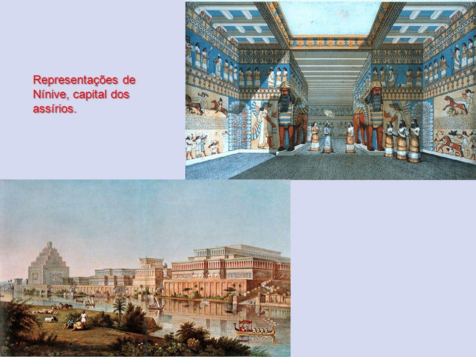 Representações de Nínive, capital dos assírios.