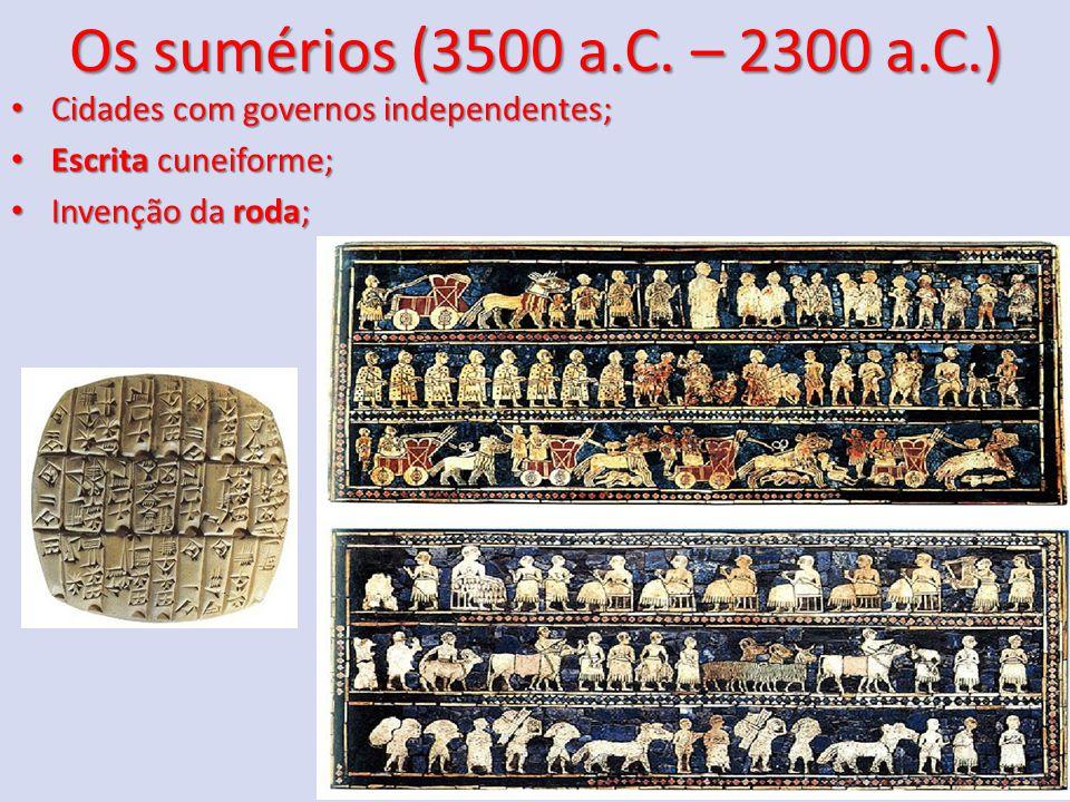Os sumérios (3500 a.C.
