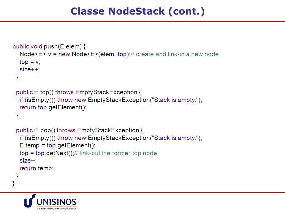 Classe NodeStack (cont.)