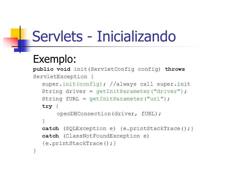 Servlets - Inicializando