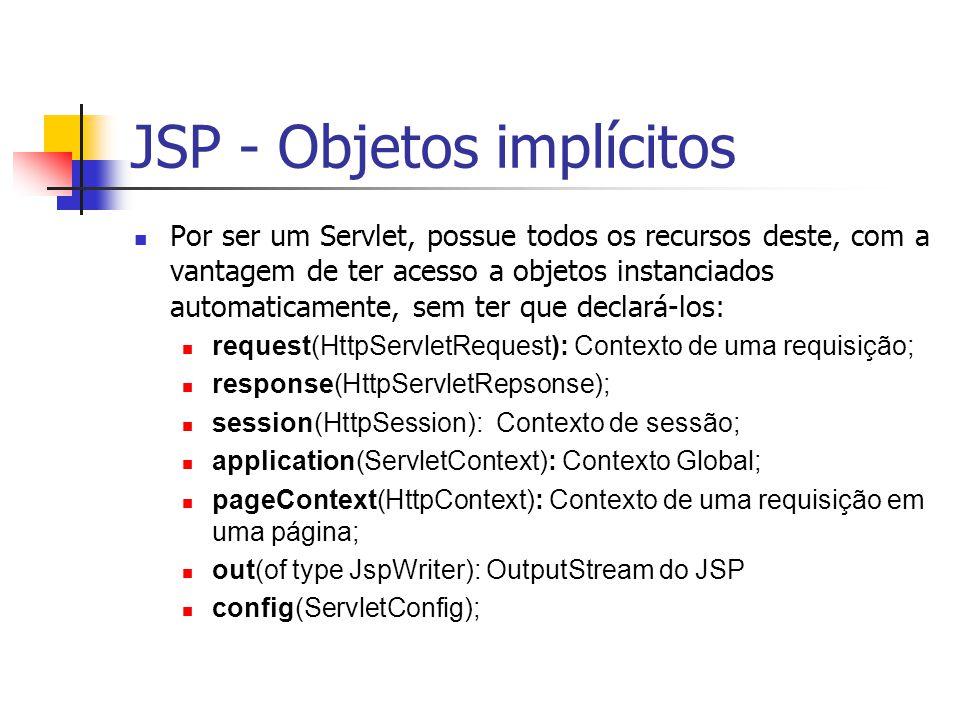 JSP - Objetos implícitos