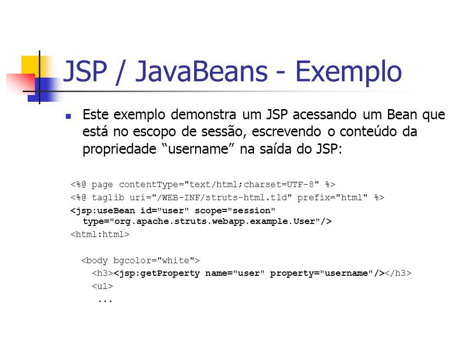 JSP / JavaBeans - Exemplo