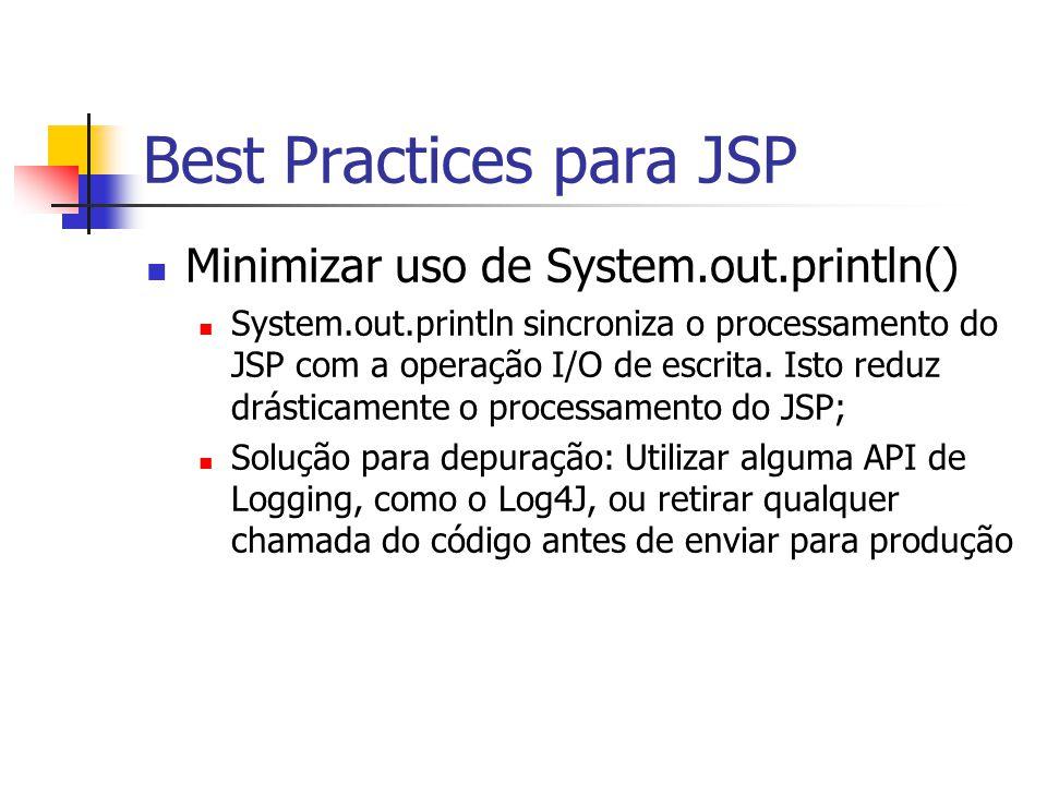 Best Practices para JSP