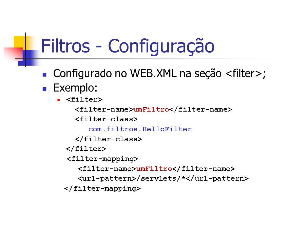 Filtros - Configuração