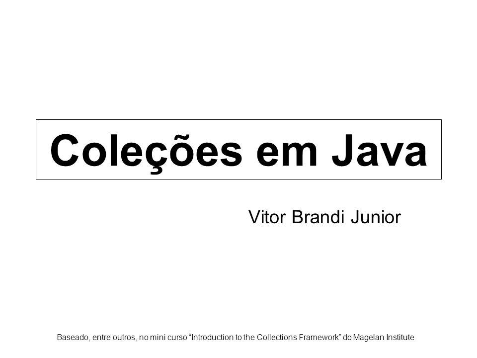 Coleções em Java Vitor Brandi Junior