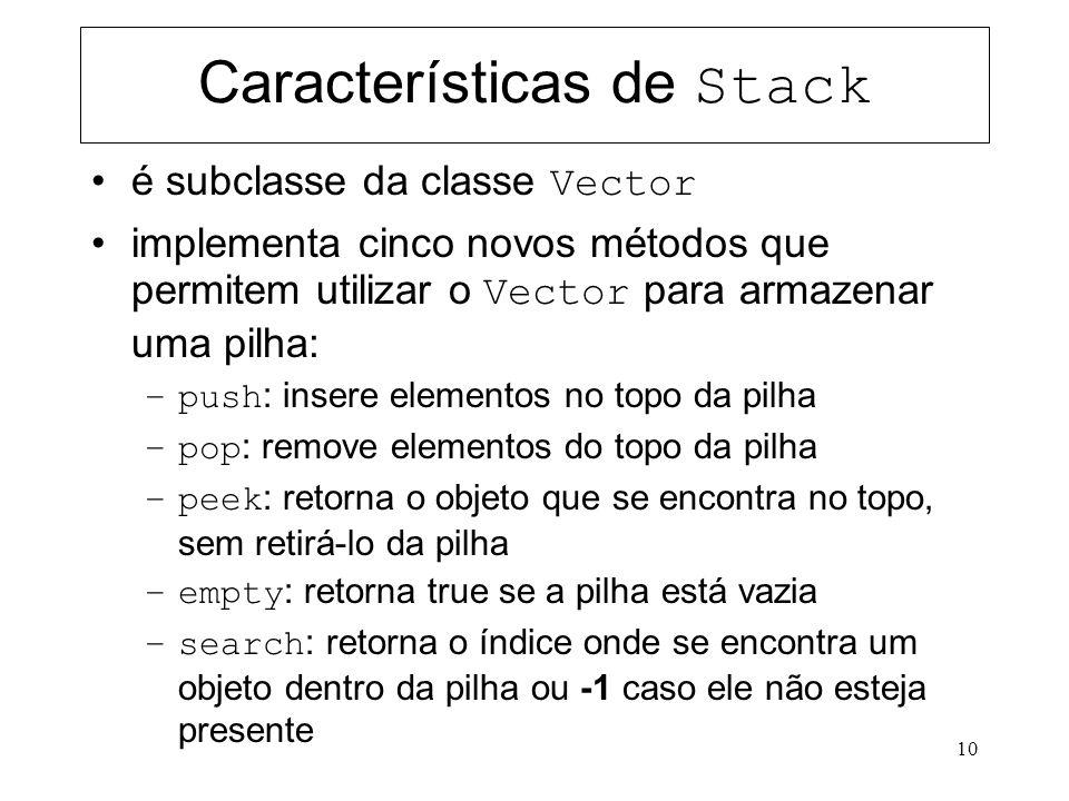 Características de Stack