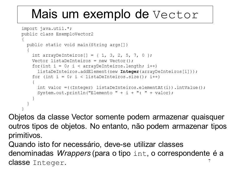 Mais um exemplo de Vector