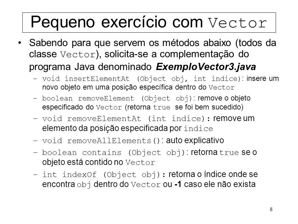 Pequeno exercício com Vector