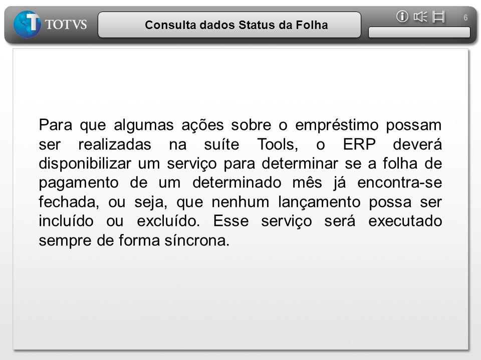 Consulta dados Status da Folha