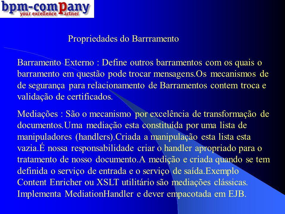 Propriedades do Barrramento