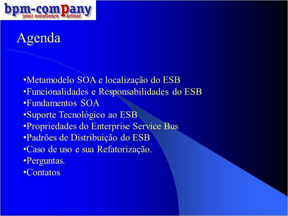 Agenda Metamodelo SOA e localização do ESB