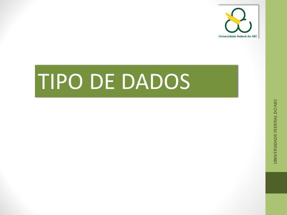 TIPO DE DADOS UNIVERSIDADE FEDERAL DO ABC