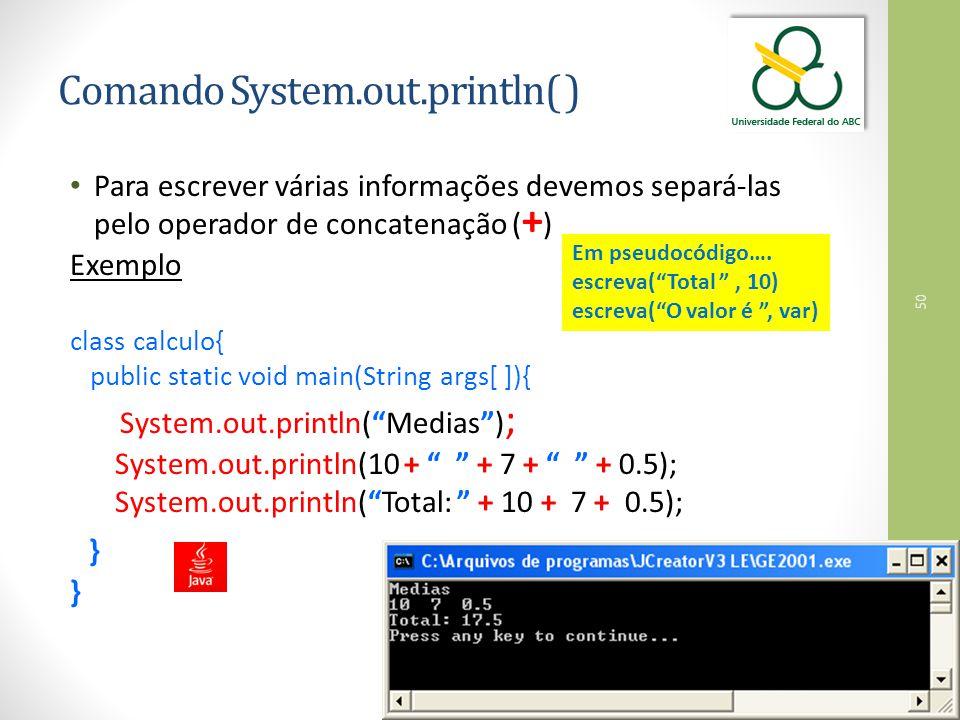 Comando System.out.println( )