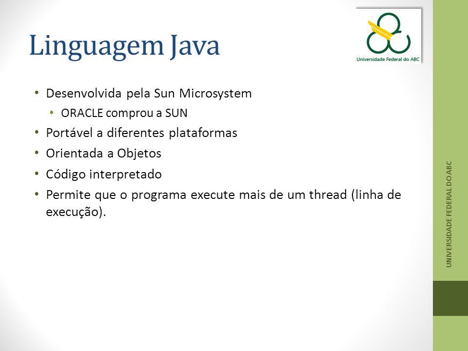 Linguagem Java Desenvolvida pela Sun Microsystem