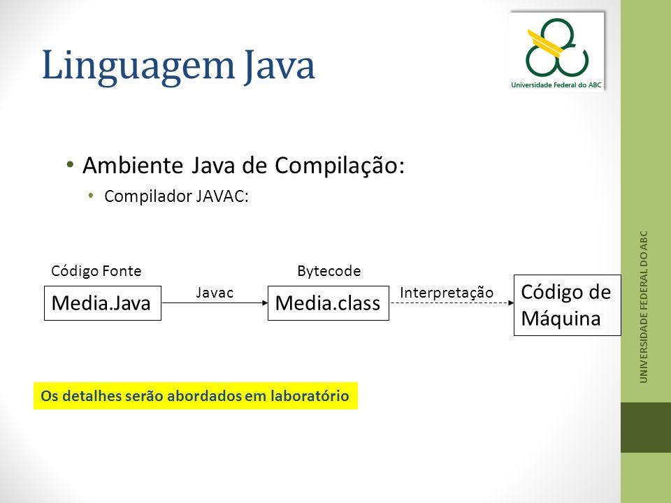 Linguagem Java Ambiente Java de Compilação: Código de Máquina