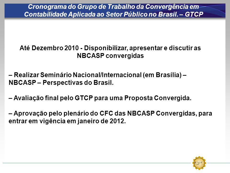 – Avaliação final pelo GTCP para uma Proposta Convergida.
