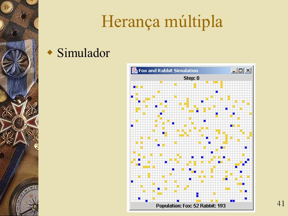 Herança múltipla Simulador