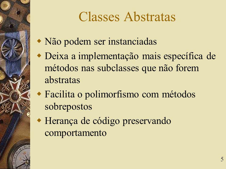 Classes Abstratas Não podem ser instanciadas