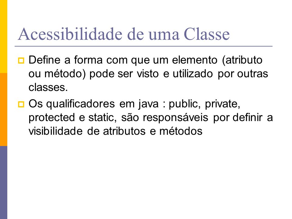 Acessibilidade de uma Classe