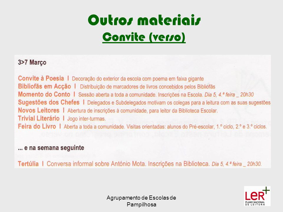 Outros materiais Convite (verso)