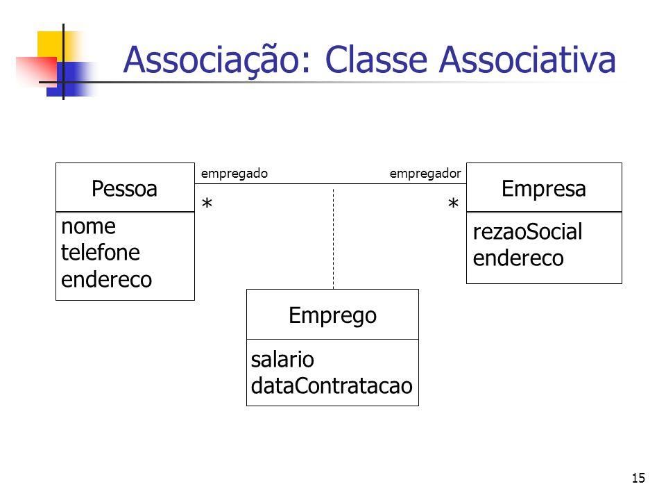 Associação: Classe Associativa