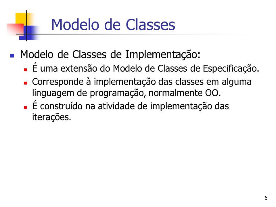 Modelo de Classes Modelo de Classes de Implementação: