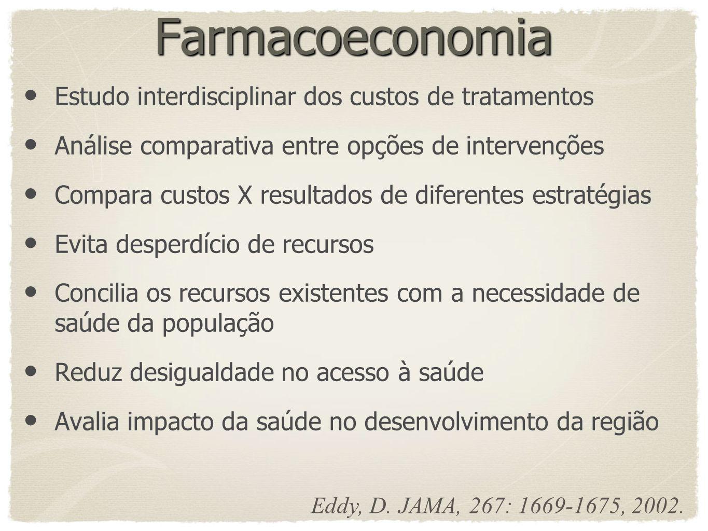 Farmacoeconomia Estudo interdisciplinar dos custos de tratamentos