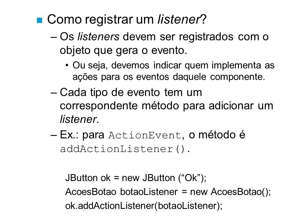 Como registrar um listener