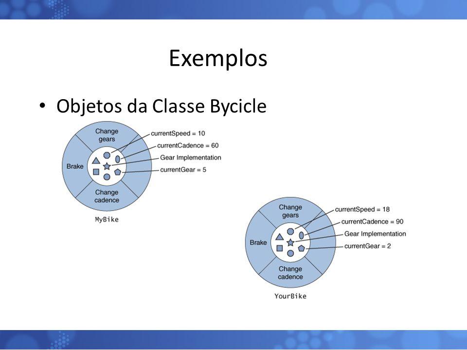 Exemplos Objetos da Classe Bycicle
