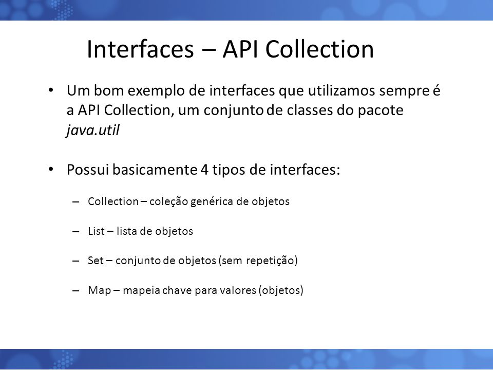 Interfaces – API Collection