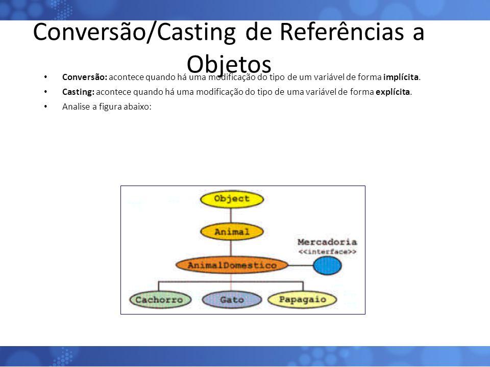 Conversão/Casting de Referências a Objetos