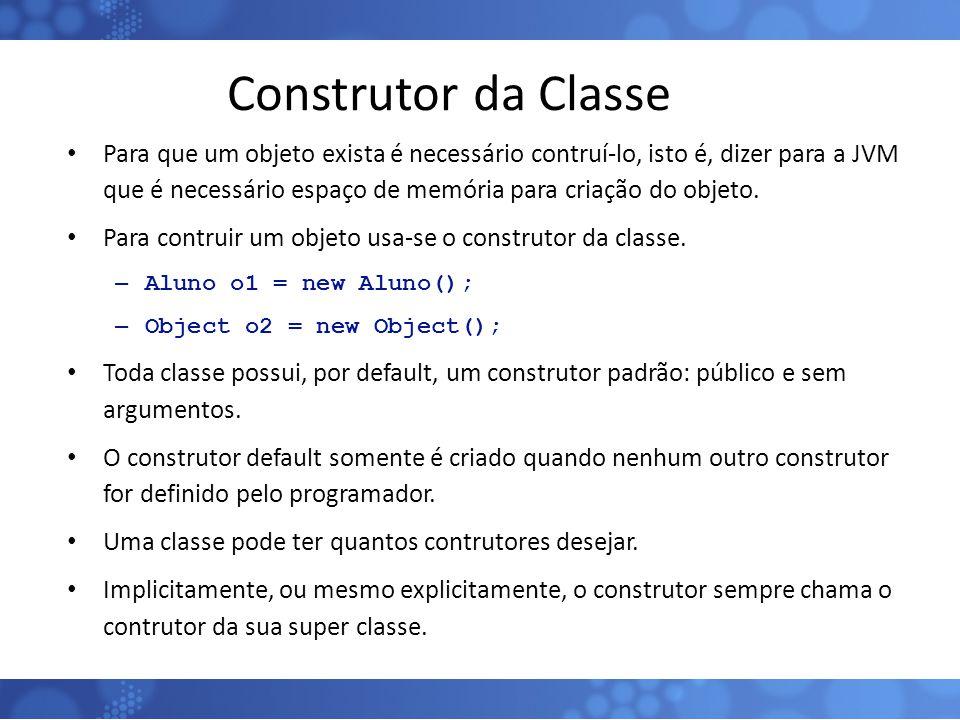 Construtor da Classe