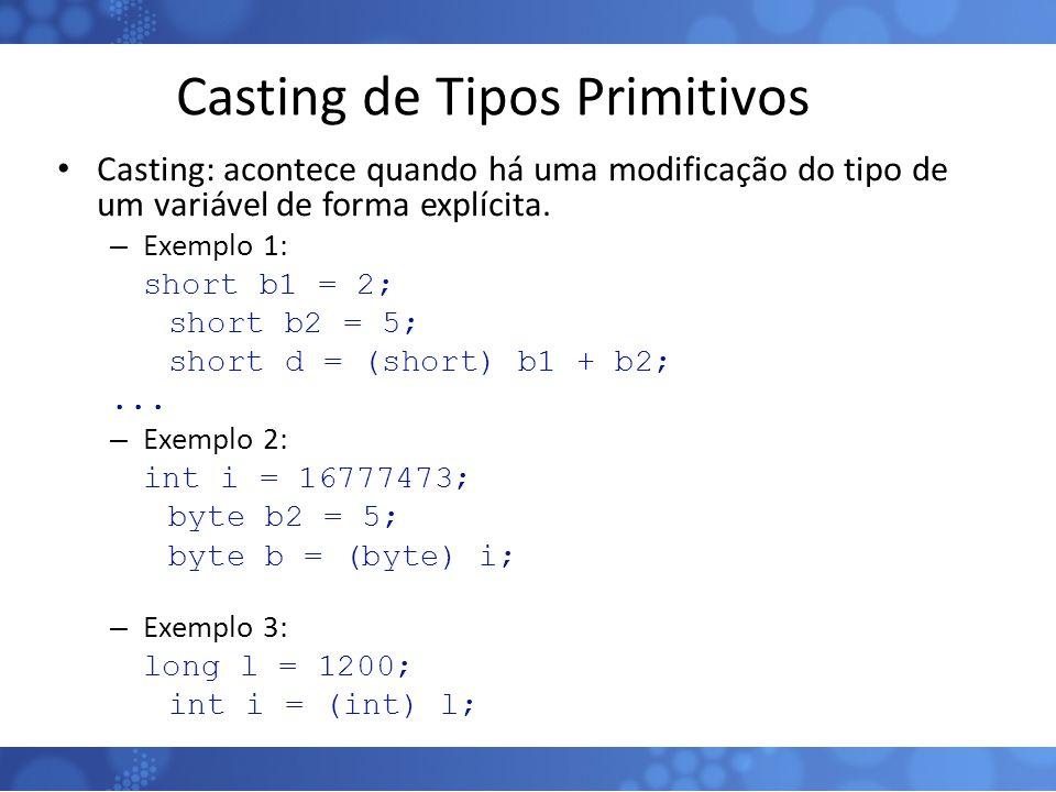 Casting de Tipos Primitivos