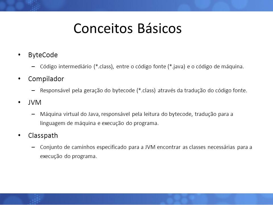 Conceitos Básicos ByteCode Compilador JVM Classpath