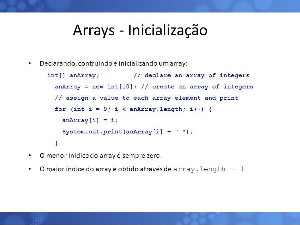 Arrays - Inicialização