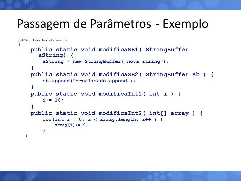 Passagem de Parâmetros - Exemplo
